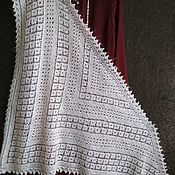 Аксессуары handmade. Livemaster - original item 3R. Scarf, fishnet, warm poluchiloc, Orenburg shawl, accessory.. Handmade.