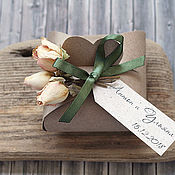 Свадебный салон handmade. Livemaster - original item Wedding bonbonniere Delicate Shebby (with pink dried flower). Handmade.