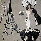 Картины и панно ручной работы. Ярмарка Мастеров - ручная работа Картина из кожи Париж. Handmade.
