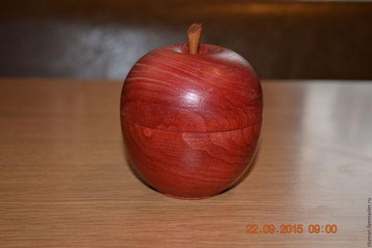 Шкатулки ручной работы. Ярмарка Мастеров - ручная работа. Купить Яблоко шкатулка. Handmade. Бордовый, из дерева, 8 марта подарок