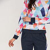 """Одежда ручной работы. Ярмарка Мастеров - ручная работа Комплект """"Веселые треугольники"""". Handmade."""