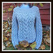 Одежда ручной работы. Ярмарка Мастеров - ручная работа Женский вязаный свитер. Handmade.