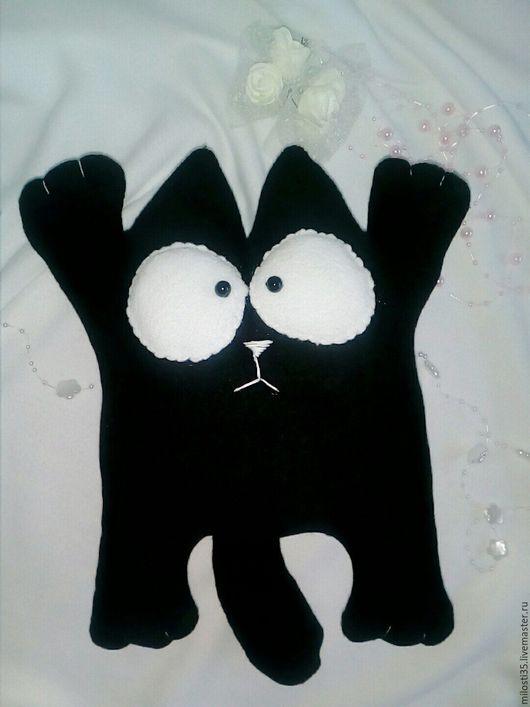 Игрушки животные, ручной работы. Ярмарка Мастеров - ручная работа. Купить Мягкая игрушка Кот Саймона из флиса. Handmade.