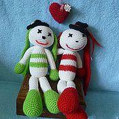 Куклы и игрушки ручной работы. Ярмарка Мастеров - ручная работа влюблённая пара. Handmade.