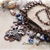 Украшения handmade. Livemaster - original item Necklace floral. Handmade.