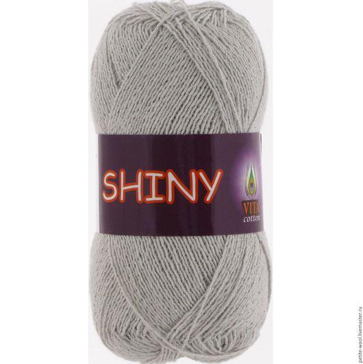 Вязание ручной работы. Ярмарка Мастеров - ручная работа. Купить Пряжа SHINY Vita cotton мерсеризованный хлопок люрекс. Handmade.