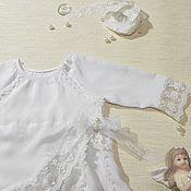 Работы для детей, ручной работы. Ярмарка Мастеров - ручная работа Крестильное платье Подснежник. Handmade.