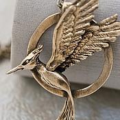 Украшения handmade. Livemaster - original item Pendant bronze MOCKINGJAY. Handmade.