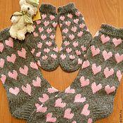 Носочки для мамы и дочки