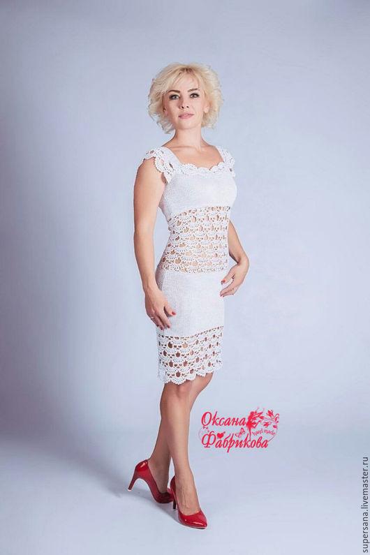 Платья ручной работы. Ярмарка Мастеров - ручная работа. Купить Платье белое нарядное !. Handmade. Белый, платье коктейльное