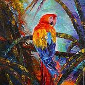"""Картины и панно ручной работы. Ярмарка Мастеров - ручная работа Картина маслом """"Все краски джунглей"""". Handmade."""