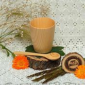 Посуда handmade. Livemaster - original item Tea set made of Cedar (Glass Spoon) Siberian pine #NC3. Handmade.