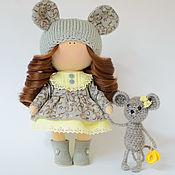 Тыквоголовка ручной работы. Ярмарка Мастеров - ручная работа Кэти и Сушка текстильная кукла с мышкой. Handmade.