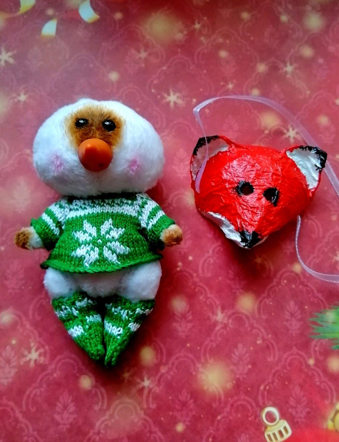 Снеговики: снеговик большой!  11 см!, Мягкие игрушки, Красноярск,  Фото №1