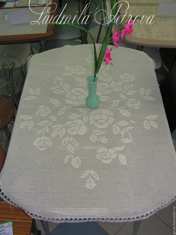 Связать скатерть на овальный стол