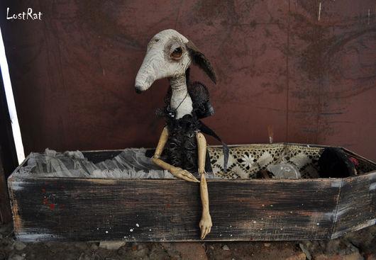 Коллекционные куклы ручной работы. Ярмарка Мастеров - ручная работа. Купить Авторская Кукла коллекционная Крыса LostRat в саркофаге. Handmade.