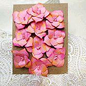 Бумага ручной работы. Ярмарка Мастеров - ручная работа Гортензия розовая.. Handmade.