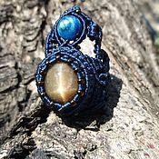 Кольца ручной работы. Ярмарка Мастеров - ручная работа Кольцо с солнечным камнем и кианитом. Handmade.