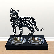Миска для питомца ручной работы. Ярмарка Мастеров - ручная работа Декоративная миска для кошек любой породы. Handmade.
