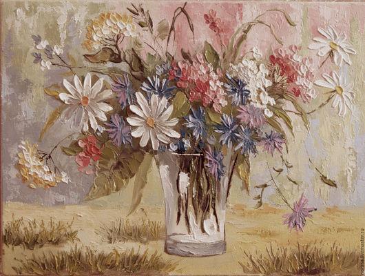 Картины цветов ручной работы. Ярмарка Мастеров - ручная работа. Купить осенняя палитра. Handmade. Комбинированный, картина в подарок, картина