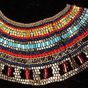 Украшения ручной работы. Ярмарка Мастеров - ручная работа оплечье и браслеты Нефертити. Handmade.