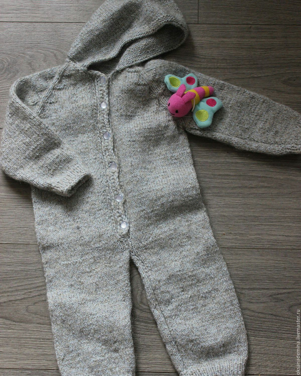 Knitted Romper hooded, Overall for children, Stupino,  Фото №1