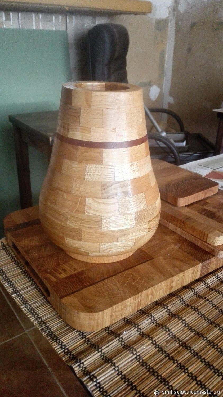 Ваза сегментная классика(Segment wooden vase)