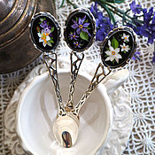 Spoons handmade. Livemaster - original item A set of spoons flora - mosaic, silver. Handmade.