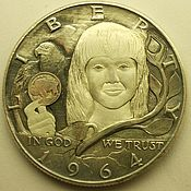 Souvenir coins handmade. Livemaster - original item Gifts: the girl with a coin. Handmade.