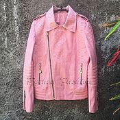Одежда handmade. Livemaster - original item Women`s Python leather jacket LYRA. Handmade.