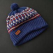 Аксессуары handmade. Livemaster - original item Knitted winter hat with jacquard.. Handmade.