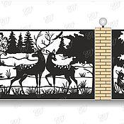 Для дома и интерьера ручной работы. Ярмарка Мастеров - ручная работа Забор лазерная резка (разработка дизайна). Handmade.