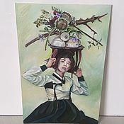 Картины и панно ручной работы. Ярмарка Мастеров - ручная работа Восточная красавица. Handmade.