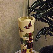 Для дома и интерьера ручной работы. Ярмарка Мастеров - ручная работа Бутылка декорированная декупаж. Handmade.