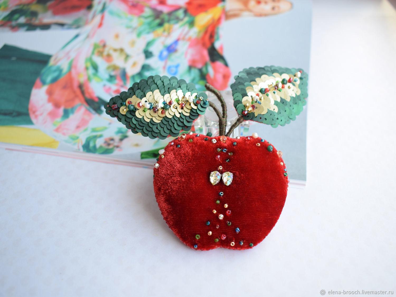 Brooch Apple, Brooches, Noyabrsk,  Фото №1