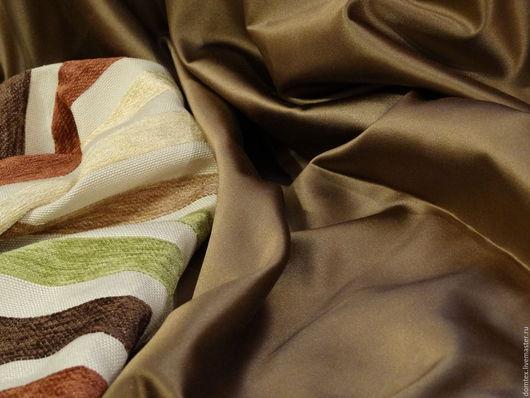 Ткань для штор. Сатен. Атлас. Пошив штор. Материалы для творчества. Ткань портьерная.