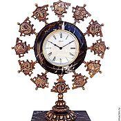 Часы ручной работы. Ярмарка Мастеров - ручная работа Часы Знаки Зодиака интерьерные часы из бронзы). Handmade.