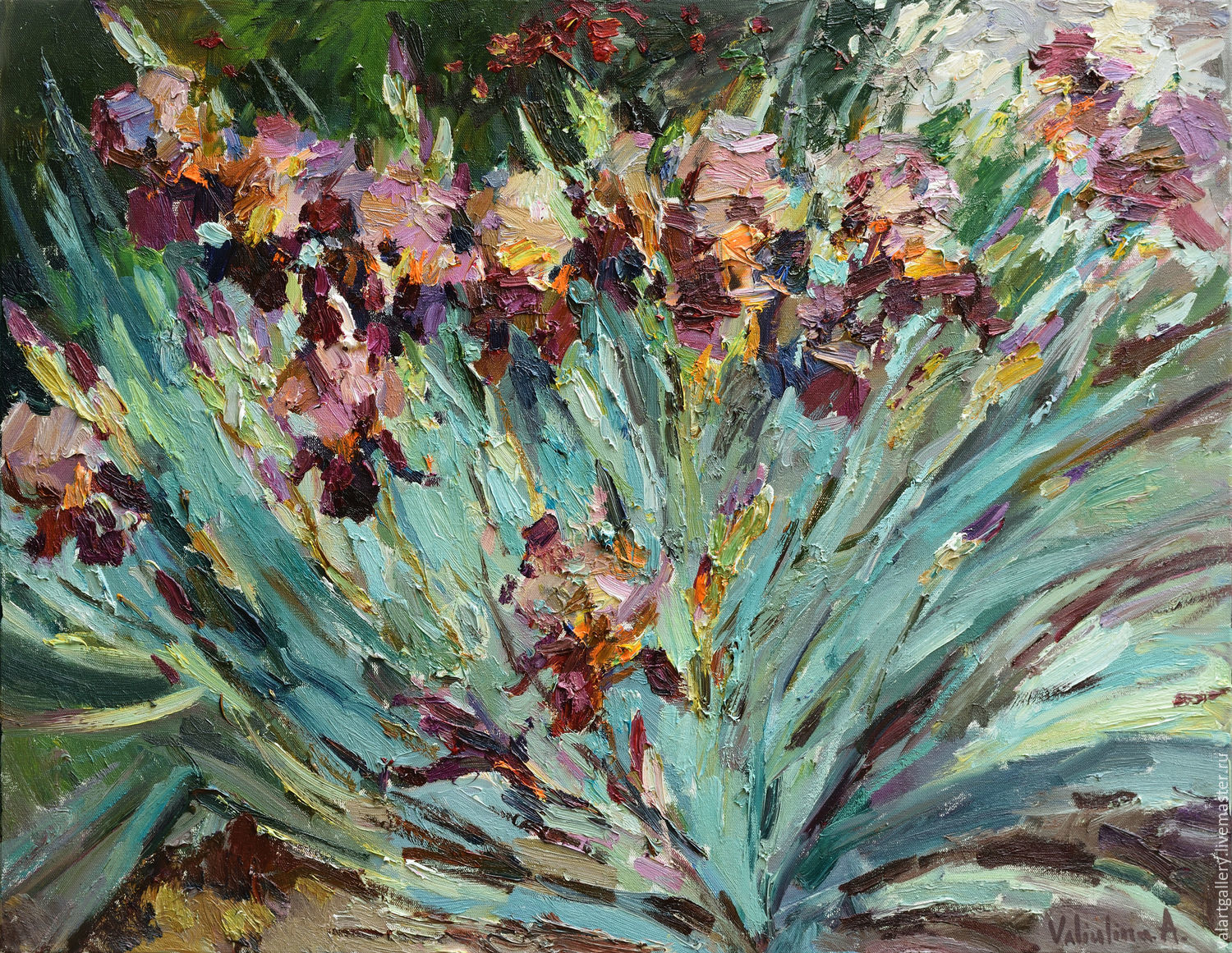 Irises Floral Painting 90 X 70 Cm Shop Online On Livemaster With