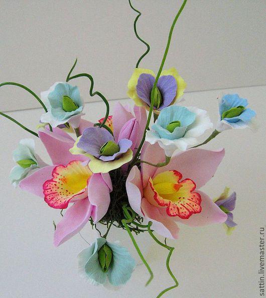 Цветы ручной работы. Ярмарка Мастеров - ручная работа. Купить Таинственный остров - цветочная композиция. Handmade. Необычный букет