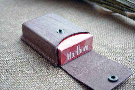 Футляры, очечники ручной работы. Ярмарка Мастеров - ручная работа. Купить Кожаный чехол для сигарет. Handmade. Для сигарет
