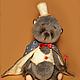 Мишки Тедди ручной работы. Заказать Мишка тедди Маленький фокусник. Юлия Артемьева  (artist teddy toys). Ярмарка Мастеров.