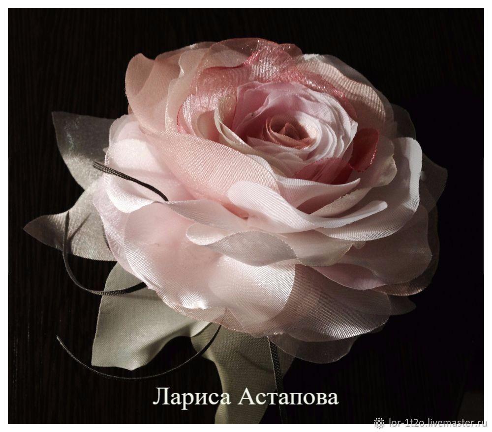 Брошь -заколка Шелковая роза, Брошь-булавка, Черкассы,  Фото №1