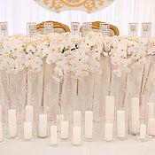 """Свадебное оформление стола президиум, стол молодоженов """"Белое кружево"""""""