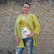 Одежда ручной работы. Ярмарка Мастеров - ручная работа Кардиган валяный желтый Поцелуй солнца. Handmade.