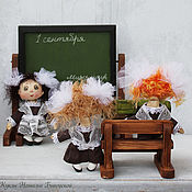 Куклы и игрушки ручной работы. Ярмарка Мастеров - ручная работа Скоро в школу!. Handmade.