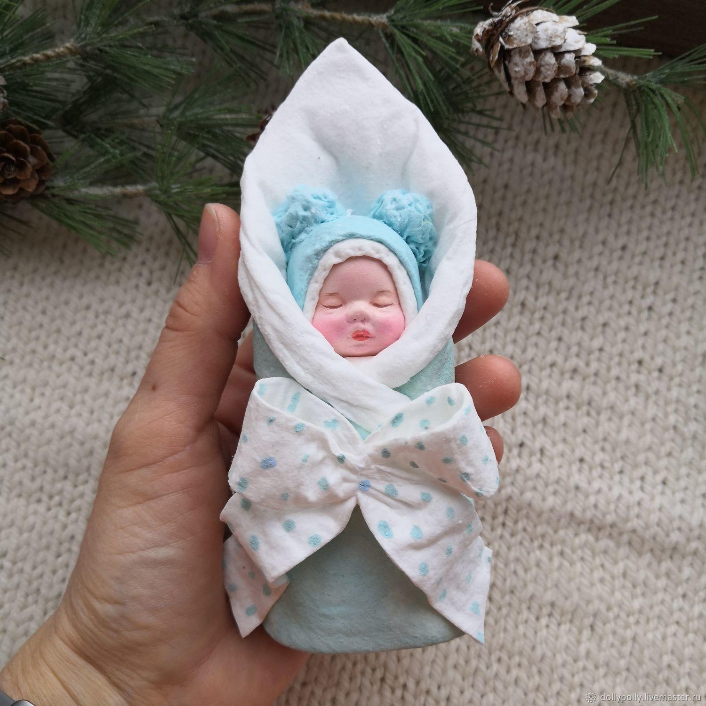 Малыш в одеялке (пеленашка), Елочные игрушки, Москва,  Фото №1