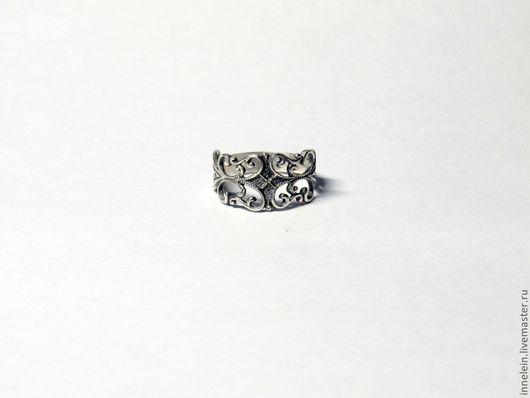 """Кольца ручной работы. Ярмарка Мастеров - ручная работа. Купить Серебряное кольцо """"Завитки"""". Handmade. Серебряный, завитки, рюши"""