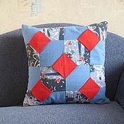 Для дома и интерьера ручной работы. Ярмарка Мастеров - ручная работа подушка Оригами. Handmade.