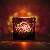 Для дома и интерьера handmade. Livemaster - original item Mandala Glass Candle Holder. Handmade.