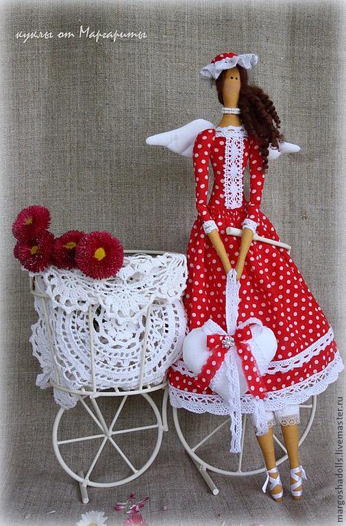"""Куклы Тильды ручной работы. Ярмарка Мастеров - ручная работа. Купить Ангел страсти и любви""""Долли"""". Handmade. Ярко-красный, страсть"""